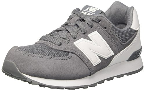 New Balance Unisex-Kinder 574 High Visibility Sneakers Grau (Grey)