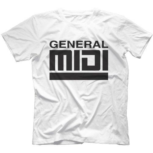 General Midi T-Shirt in 13 Farben Weiß