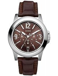 Guess Herren-Armbanduhr Analog Quarz Leder W95110G1
