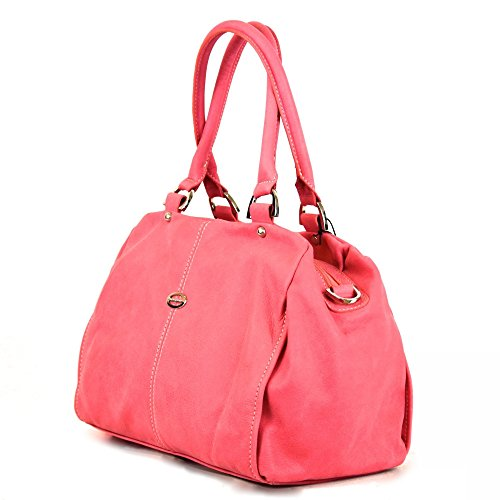 Tornabuoni - Borsa Da Donna In Pelle Morbida Made In Italy Rosa