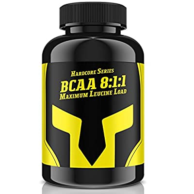 BCAA 8: 1: 1–Maximum Leucine Load | High Dose 240Tablets Leucine, isoleucine, valine | Muscle Building with 3000mg Day requirements for 40days and Definition | Premium Quality Made in Germany by Pumpeffect