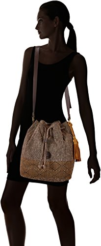 Timberland Tb0m5770, Borsa a Secchiello Donna, 17x33.5x28.5 cm Marrone (Chocolate Brown)