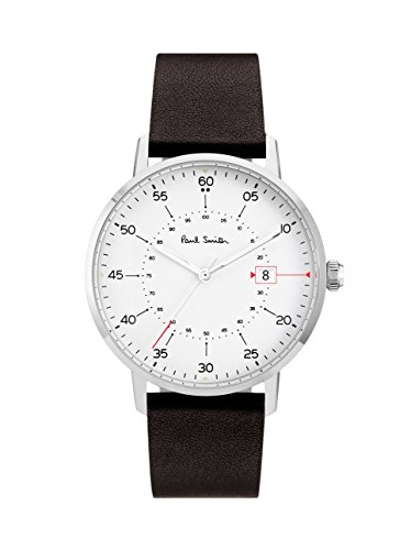 paul-smith-mens-quartz-watch-with-white-dial-analogue-display-and-brown-leather-strap-p10072