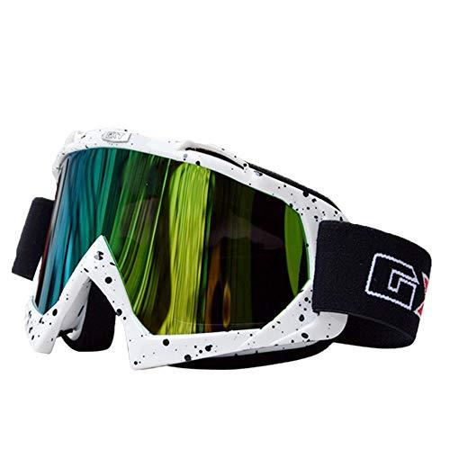 HEXUAN Occhiali da Corsa Hexu Occhiali da Corsa per Moto da Cross Occhiali per Occhiali da Sci Antivento Antipolvere