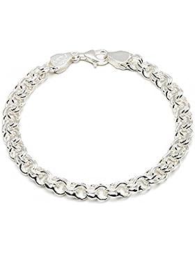 925 Silberarmband: Garibaldiarmband Silber mit der Breite 6,5mm und auswählbare Länge 19cm und 21cm