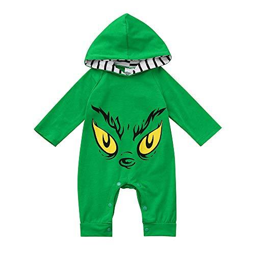 i-uend Baby Einteiler Overall - Kleinkind Baby Langarm Cartoon Augen Print Hoodie Strampler Overall Kleidung für 3-24 Monate