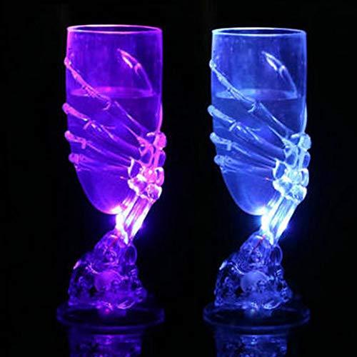 Goblet Wein Kelch mit Kralle, Skelett Hand Goblet Party Zubehör für Bar Club Halloween Horror Film Thema Party Ornament free size Zufällig ()