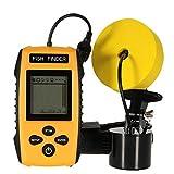 Fischfinder, Tragbarer Portable Angeln Sonar Sensor Verkabelt Tiefe Find Wired Fish Detector 200KHz Sonar Frequency 328ft Fishing Sonar and Depth Fishing Sonar