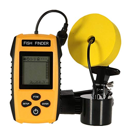 Fischfinder, Tragbarer Portable Angeln Sonar Sensor Verkabelt Tiefe Find Wired Fish Detector 200KHz Sonar Frequency 328ft Fishing Sonar and Depth Fishing Sonar -