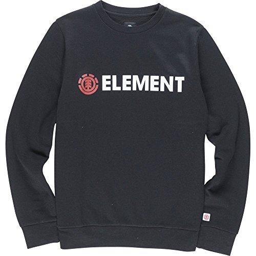 Element Herren Pullover Sweatshirt Blazin Crew Neck Größe: M Farbe: Black (Sweater Crew Element)
