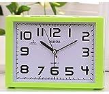 HHIAK666 Tempo Libero Autoallarme Rettangolare per Il Tempo Libero, Orologio di Apprendimento per Bambini, Orologio di Moda Piccolo Sedile 16X111,8 Cm Verde