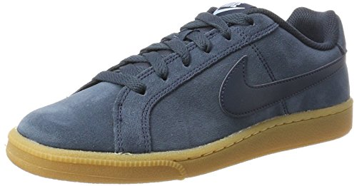 Nike Wmns Court Royale Suede, Sneaker Donna Blu (Armory Navy/armory Navy-gum Lt Brown-lt Armory Blue)