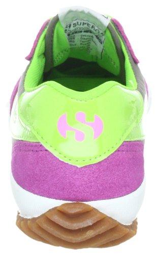 Superga 2832-NYLU S001XG0, Unisex - Erwachsene Sneaker Pink (Fuxia-Grey-AcidGreen 962)