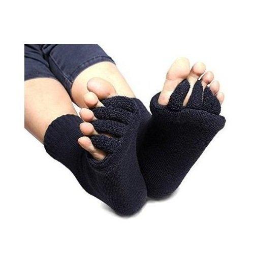 eqlefr-una-coppia-nera-di-massaggio-yoga-toe-socks-open-correzione-dellalluce-valgo-toe-socks
