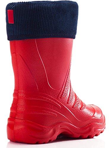Ladeheid EVA Thermo Bottes de Pluie Enfant LA-861 Rouge-1/Marine