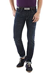 Allen Solly Mens Super Skinny Jeans (8907308079429_ALDN515J05376_32W X 34L_Dark Blue Solid)