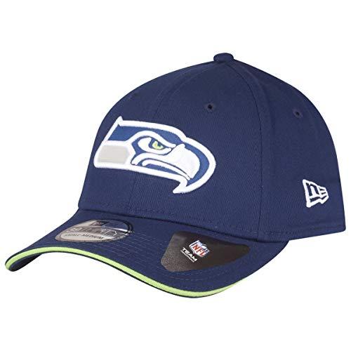 New Era Team 39Thirty Cap Seattle Seahawks Dunkelblau, Size:S/M -