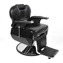 anaelle pandamoto fauteuil de coiffeur classic hydraulique inclinable barber reclinable 360en pu cuir avec - Fauteuil Barbier Belmont