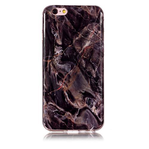 Carols cover iphone 6 6s 6g marmo, silicone morbido cover antiurto tpu soft touch con disegni effetto marmo custodia protettiva per iphone 6 6s 6g (4,7 zoll) - marmo -a19