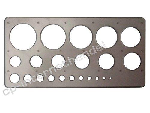 Kreisschablone / Lochschablone -- grau/transparent -- 1-36 mm - hochwertig u. stabil -- B-Ware