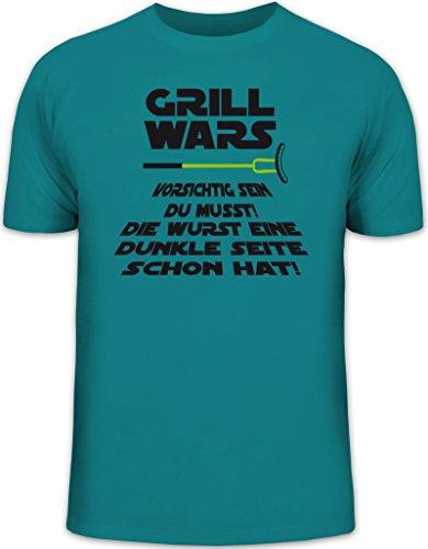 Grillen BBQ Herren T-Shirt von Shirtstreet24 mit Dunkle Seite Grill Wars Aufdruck, Größe: M,diva -