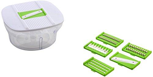 ROXA 10 in 1 Plastic Manual Food Processor/Dough Maker/Atta Maker/Vegetable Cutter/Slicer / Grater/Cutter