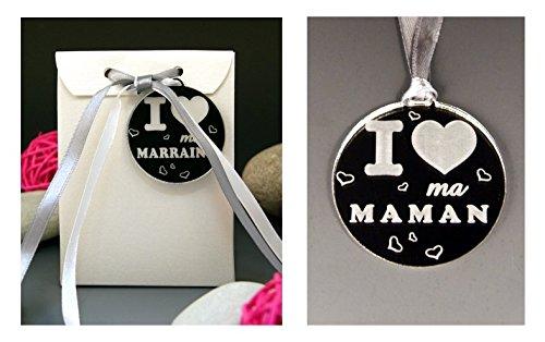 Boite de Chocolat I ♥ ma Maman - Cadeau Baptême, Noël