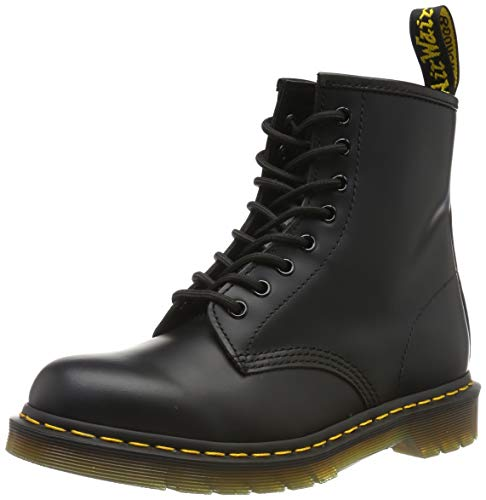Dr. Martens 1460 - Botas Militares de Mujer, Negro Black Smooth Leather, 40 EU