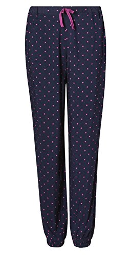 - 41wbQtmteqL - LADIES PYJAMA BOTTOMS MARKS & SPENCER NAVY STAR PRINT WOMENS PJ LOUNGE PANTS