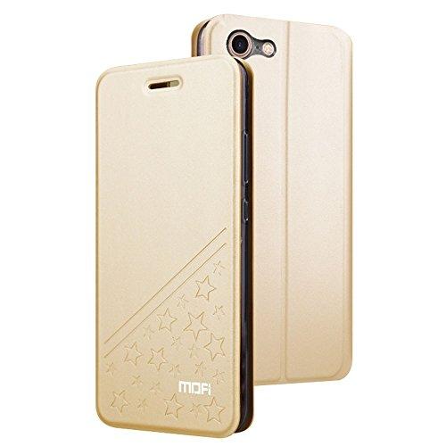 GHC Cases & Covers, Für iPhone 7 PU Fünf-spitzes Stern-Muster-horizontaler Schlag-Leder-Kasten mit Halter ( Color : Black ) Gold