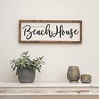 """Vintage Farmhouse Schild 60x20cm""""Beach House"""" Landhaus Maritim Deko Bild Strandhaus"""