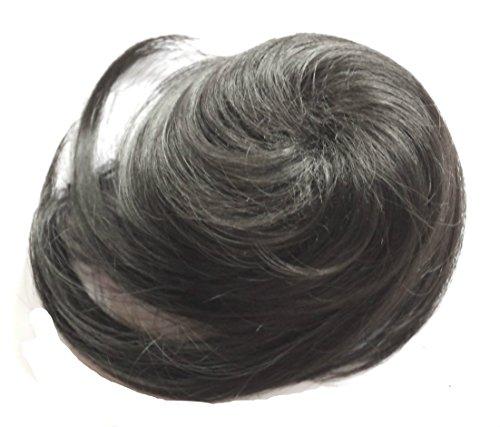 JM-Fashion-Supply Zopf Haarknoten Hepburn-Dutt Haargummi Hochsteckfrisuren Div. Farben ZY (schwarz 1B)