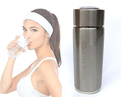 Tragbare Alkaline Wasserflasche, Alkaline Water Flask Silber / Silver