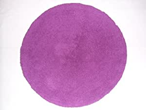 Luxury Bath Mat [Purple colour] - 100% Cotton, Reversible, Thick, Soft, Absorbent, Round shaped (Size: 70 Cms diameter). Available in 4 colours. by Cottony