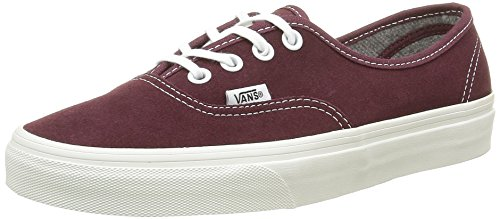 Vans Authentic, Baskets Basses Mixte Adulte Rouge (Varsity Suede red mahogany)