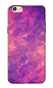 KanvasCases Case For Oppo F3 - pink triangle