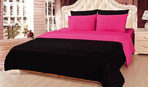 Tache 4–6Stück Solid wendbar Tröster Set in verschiedenen Größen und Farben, baumwolle, rose, King Size