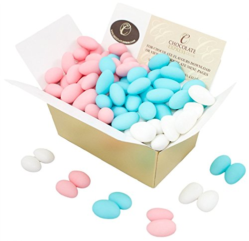 Sugared Almonds, Luxury Italian Whole Sugared Almonds In Gift Box, 100 Coloured Almonds. (400g)