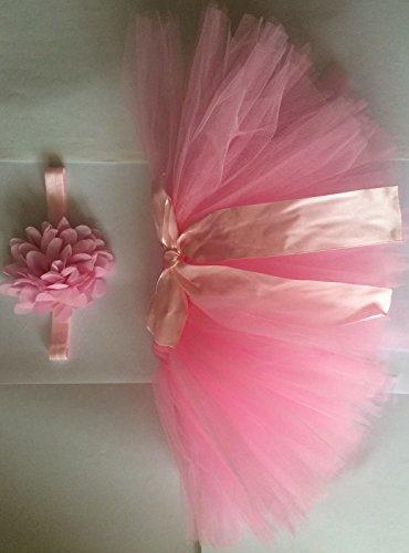 Rosa-recin-nacido-ropa-de-tut-falda-Headdress-de-fotos-diseo-de-flores-accesorios-de-fotografa-prop