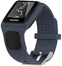 MTSZZF Ersatz Weiche Silikon Gel Uhrenarmband Strap Sport Armband f�r TomTom Runner/Multi Sport/Cardio GPS Strap Lauf Smartwatch (Eine Gr��e)