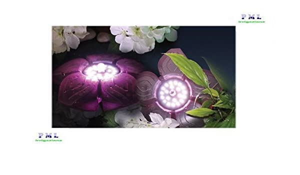 Faretto fiore galleggiante per laghetto flower led basic w