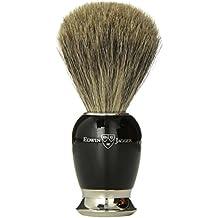 Edwin jagger 81sb586 - Brocha para afeitar de pelo de tejn (imitacin a madera de bano, con cuello y extremo de acero niquelado)