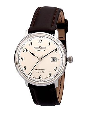 Zeppelin Watches 7046-4 - Reloj analógico para Caballero de Cuero Beige de Zeppelin Watches