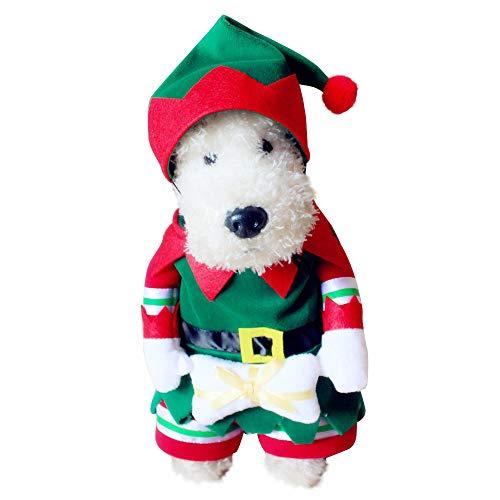 PET Heimtierbedarf Teddy Toy Malteser Boston Terrier Pawcishi Peking Miniatur-Schnauzer-Hunde aufrechte Kleider verkleiden Sich Costume Pet Kleidung für kleine Hunde (Farbe : Grün, größe : S) -