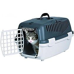 Trixie - Cage Transport Chien/chat - Capri 1 - 32 X 48 Cm - Gris Clair Et Foncé