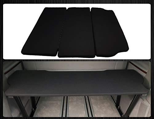 Bremer-Sitzbezüge Set di coprisedili per VW T5 & T6 Multivan Multiflexboard, con Materasso estendibile, Colore: Nero