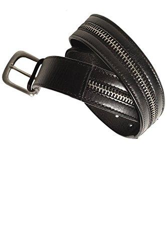 883 POLICE Sanchez Black Leather Belt Small