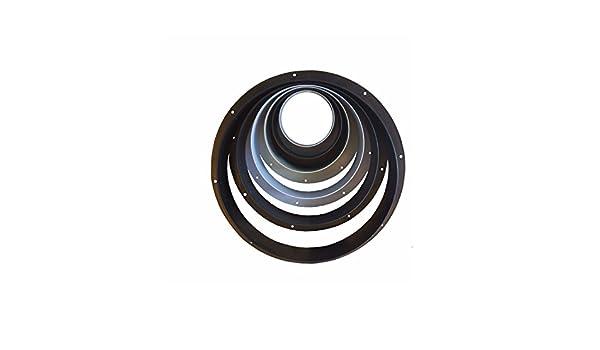250mm Anschlussflansch verschiedene Gr/ö/ßen Wandanschluss f/ür Luftschlauch