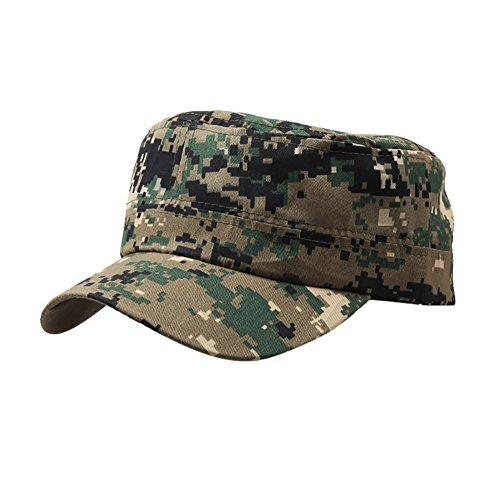 Trada Baseball Cap, Unisex Outdoor Camo Tactical Plain Vintage Armee Military Cadet Stil Cap Hut Einstellbar Basin Populäre Hut Camping Mütze Nepalesische Army Kappe Camo Hüte (A) (Camo Hut Cadet)