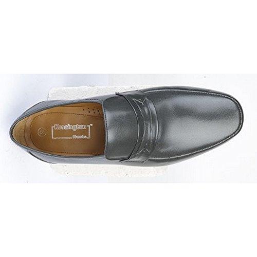 Kensington Klassik Herren Freizeit Loafer Schuh Grau